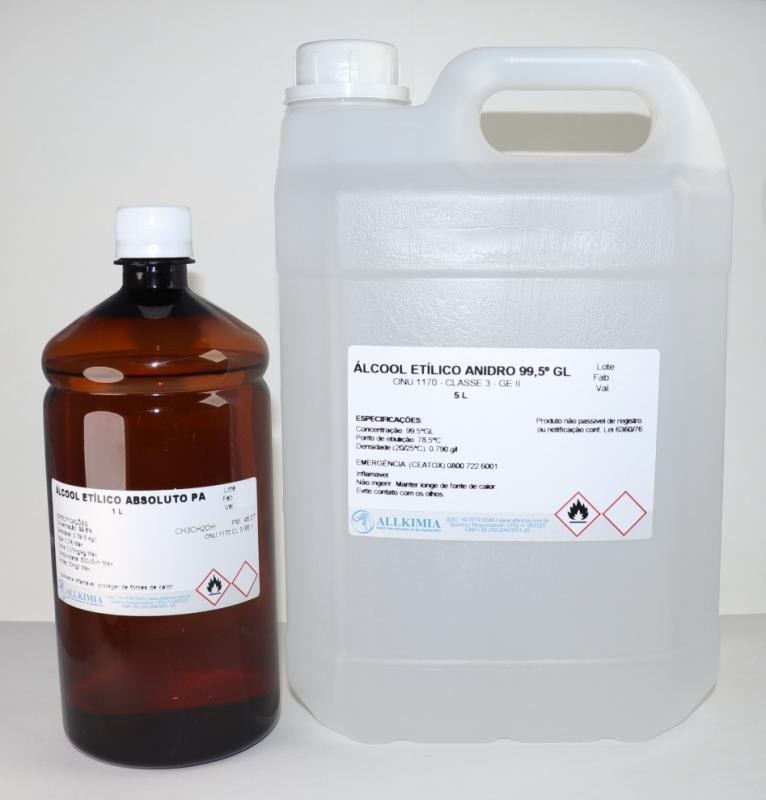 álcool para laboratório